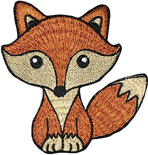 Fox Cartoon DIY Nähen auf Eisen auf Patch Applikation Bestickt - Braun (iron-cute-fox-brown) ()