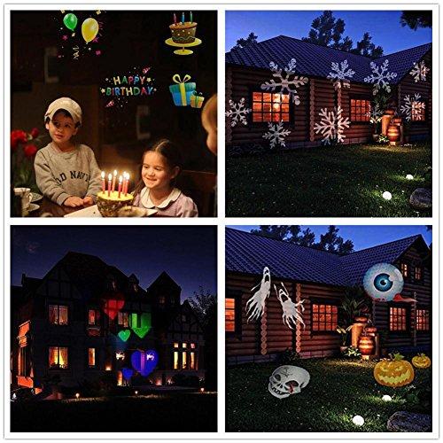 BLINKING-STAR Luci del proiettore di Natale Impermeabile 14 modelli di spettacolo di luci, decorazione di luci natalizie per 5 diversi temi - Halloween Christmas Birthday decor