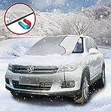 Carloo Auto Sonnenschutz, Sonnenblende Frontscheibe, Schneeschutz Scheibenabdeckung für Winter + Sommer ( 215 * 125cm )