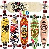 [Maronad.GCP]® Longboard Skateboard drop through Race Cruiser ABEC-11 Skateboard 104x24cm