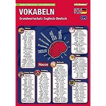mindmemo Lernfolder - Grundwortschatz Englisch / Deutsch - 1100 Vokabeln - Lernen ganz einfach - Lernhilfe - PremiumEdition (foliert)