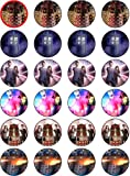DR WHO - 1- 24 EDIBLE WAFER - RICE PAPER CAKE TOPPERS EACH DESIGN IS 40mm IN DIAMETER