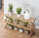 estantes para plantas Soporte plegable de madera de la maceta de 3 niveles Jardinera del jardinero Escalera Display Jardinero Estantes de almacenamiento Rack Herb Holder 50/60 * 70/80 * 28 * 41cm ( Tamaño : 80*28*41cm )
