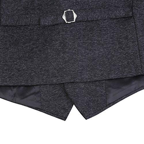 Zicac Herren Westen Beiläufige Weste mit Hohe Qualität Slim Fit Stil Weste Grau