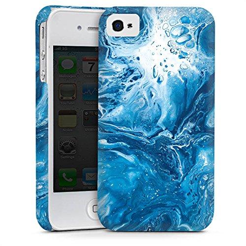Apple iPhone 4 Housse Étui Silicone Coque Protection Marbre Motif Motif Cas Premium mat