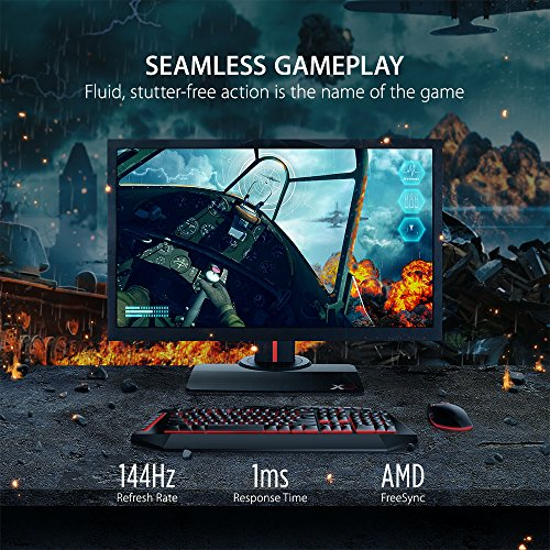 Affordable ViewSonic XG2402 24-inch Full HD Gaming Monitor with AMD FreeSync (144Hz 1ms 1080p HDMI DisplayPort Speakers) – Black Special
