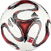 adidas F93533 Torfabrik - Balón de fútbol, color blanco, rojo anaranjado y verde menta