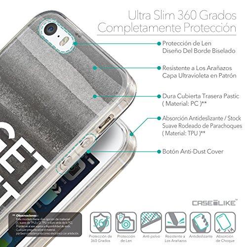 CASEiLIKE Zitat 2402 Ultra Slim Back Hart Plastik Stoßstange Hülle Cover for Apple iPhone SE +Folie Displayschutzfolie +Eingabestift Touchstift (Zufällige Farbe) 2429