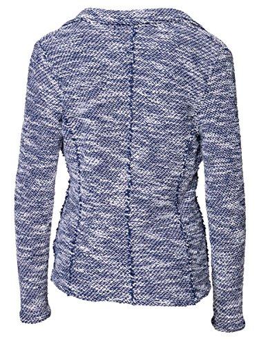DAILY'S KRYSTAL Damen Blazer mit aufgesetzten Taschen aus Baumwolle, Polyester und Viskose - soziale fair trade Kleidung, Mode vegan und nachhaltig Color midnight, Size S - 2