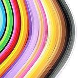 Quilling Papier Streifen Quilling Kunst Streifen 1 080 Streifen 44 Farben Quilling Papier Set 3 mm Breite 54 cm Länge
