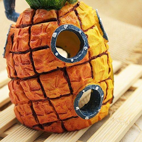Tia-ve spongebob ananas acquario domestico ornamento di pesce decorazioni serbatoio