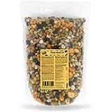 KoRo - Bonen en erwten mix snack 1 kg - snack van geroosterde en gezouten peulvruchten in een voordeelverpakking