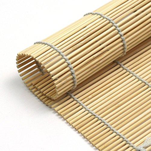 Space Home – Sushi Rollmatte aus Bambus – Für die Zubereitung von Maki-Sushi – Sushimatte – Bambusmatte – 4 Bambus Sushi Matten