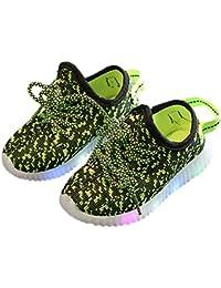 Zapatos de niños, Calzados/Zapatillas/Sandalias de niños Unisex Baby Kids Zapatos Deportivos de Malla Transpirable con LED Zapatillas Luminosas Zapatos