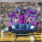 murando - Fototapete 300x210 cm - Vlies Tapete - Moderne Wanddeko - Design Tapete - Wandtapete - Wand Dekoration - Graffiti 10110905-3