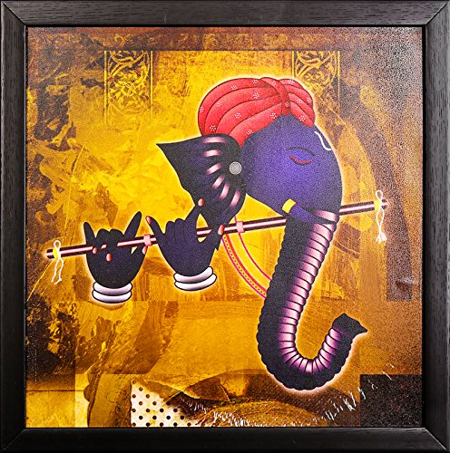 PAF Ganesh Painting  Ganesha painting  Ganesh poster   Ganesh wall stickers   PAF exclusive Framed Wall Art Paintings.PAF Pooja Art