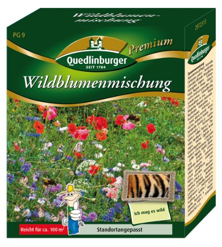 Blumenwiese - Wildblumenmischung (ohne Gräser) von Quedlinburger Saatgut -