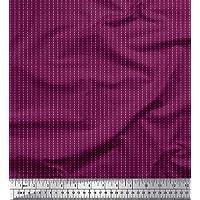 Soimoi Rosado gasa de viscosa Tela Raya y puntos tela de camisa estampados de tela por