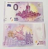 0 Euro Schein Reichsburg Cochem 2017 - Null Euro Souvenier Banknote mit Verschiedenen Sehenswürdigkeiten