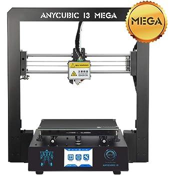 Anycubic I3 MEGA |3D Drucker Kit mit größerer Druckgröße und 3,5 Zoll TFT Touchscreen PLA ABS 1.75mm Filament (i3 Mega)