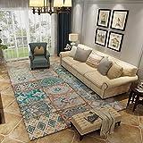 GuoFeng Carpet Mat American Country Vintage Teppich Wohnzimmer Couchtisch Sofa Teppich Schlafzimmer Bett Teppich A+ (Farbe : A, größe : 200x300cm(79x118inch))