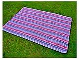 ZFFde Tragbare Picknickdecken Große Weinlese-Muster-Wasserdichte Faltbare Picknick-Matten-Decke für im Freien (orange) (Farbe : Purple+Red, Größe : 200x200cm)