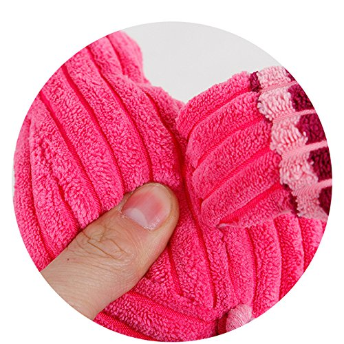 Scrox 1 Stück Unzerstörbares Flamingo Puppen-Spielzeug für Hunde, interaktive Zähne, aus Gummi, zum Kauen, Spielzeug geeignet für kleine und mittelgroße Hunde -