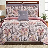 Amrapur Overseas Tuileries Garden 8-Piece Printed Reversible Complete Bed Set