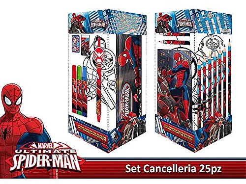 SPIDERMAN SET CANCELLERIA 25pz AS6753