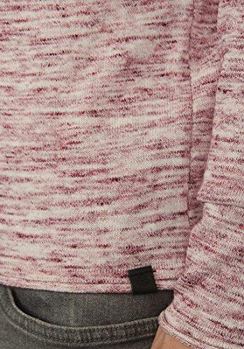 BLEND Xylon Herren Strickpullover Rundhalskragen aus 100% Baumwolle Meliert Andorra Red (73811)