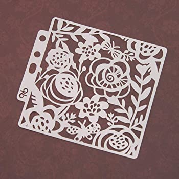 Fafalloagrron Stencils Template Painting Scrapbooking Embossing Stamping Album Card DIY Flower