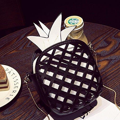Bianco Girl Cerniera Borsa Moderna Sunroyal Trasparente Arancione Pelle Ananas Con Piccola Tracolla Ananas Da Pochette Nero Sera Frutta In A Borsa 3d Da Borsa Tracolla Borsa Mini Fggwd6