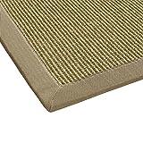 BODENMEISTER Sisal-Teppich modern hochwertige Bordüre Flachgewebe, verschiedene Farben und Größen, Variante: beige natur, 80x150