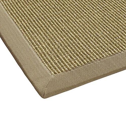 BODENMEISTER Sisal-Teppich modern hochwertige Bordüre Flachgewebe, verschiedene Farben und Größen, Variante: beige natur, 80x250