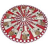 ALLdelete# Christmas Tree Skirt Traditioneller Feiertags-Weihnachtsbaumrock mit süßem Lebkuchenbäcker-Design, 91 cm (36 Zoll)