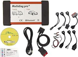 Auto Detektor, Auto Fehler Diagnose Tester Fehler Code Reader Multidiag Pro + Scanner mit Verlängerungskabel 8pcs für Autos LKWs
