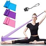 Bandas Elasticas Fitness 3 Piezas Resistencia Bandas de Ejercicios para Yoga, Pilates, Crossfit, Estiramientos, Fisioterapia,