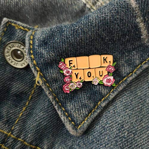 LKLKLK Feminism Liberalism Red Rose Floral Keyboard XXXX You Feminist Pins Backpack Badge Brooches Enamel Lapel Pin Gift For Women Girl