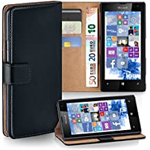 OneFlow PREMIUM - Book-Style Case case in a wallet design with stand function - for Nokia Lumia 520 / 525 - DEEP-BLACK