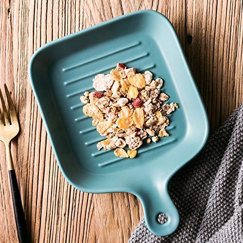 ve Irreguläre Teller, Haushalt Keramik Teller, Frühstücksgeschirr, Westliche Gerichte, Teller, Teller, Geschirr, Geschirr, Blue Square ()