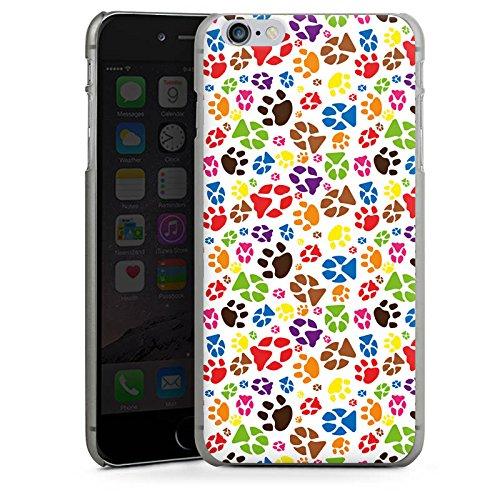 Apple iPhone X Silikon Hülle Case Schutzhülle Pfoten Bunt Hund Haustiere Hard Case anthrazit-klar