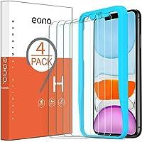 Amazon Brand-Eono [4 Stück] Schutzfolie kompitabel mit iPhone 11/ iPhone XR, 2.5D, 9H, Anti-Kratzen,Hülle Freundllich…