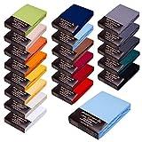 SPANNBETTLAKEN WASSERBETTEN BOXSPRINGBETTEN 180x200-200x220 165gr/m² Öko-Tex-Zertifikat Avantgarde 100% Baumwolle 19 Farben (13-hellblau)