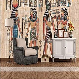 Mural Wallpaper WallSticker3D Photo Wallpaper Historical and Cultural Theme Wallpaper Wine Bar Ktv Large Mural European Ancient Egyptian Wallpaper,400 * 280Cm