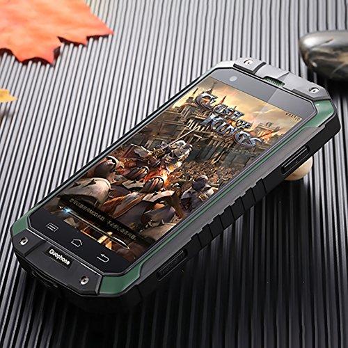 Guophone V9 Smartphone IP68 Wasserdicht Outdoor Handy (4 Zoll QHD Touchscreen, Dual-Sim Quad-Core, 1GB Ram + 8GB Rom, Eingebaute GPS-Navigation + AGPS, 4500mAh) (Grün)