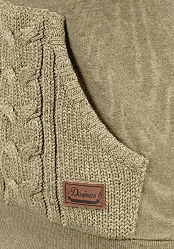DESIRES Matilda Damen Sweatjacke Kapuzen-Jacke ZIp-Hoodie aus hochwertiger Baumwollmischung, Größe:XXL, Farbe:Dune Melange (8409) - 4