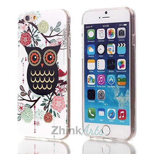 ZhinkArts Eulen Schutzhülle mit verschiedenen Motiven für IPhone & Samsung Handy Case Cover Style Bird Eule Apple IPhone 5/5S Eule M10 Eule M11