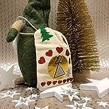 Oblique Unique® 18 Holz Sterne Holzdeko Weihnachtsdeko Tischdeko Weihnachten Echtholz - Farbe wählbar (Weiss) - 6