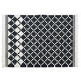 Loberon Teppich Regent, Baumwolle, H/B ca. 170/240 cm, schwarz, hochwertige Qualität, Vintage-Stil