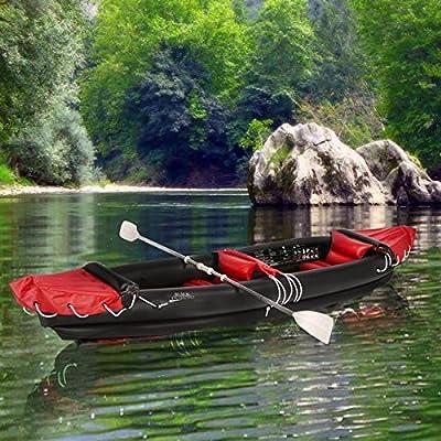 Black diamonds - Canoa, kayak hinchable de 2plazas con zaguales